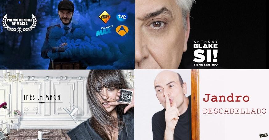 Imagenes de magos que actuarán en Madrid