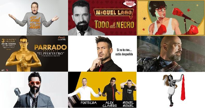 Imagenes de monologuistas en la cartelera de teatro madrileña