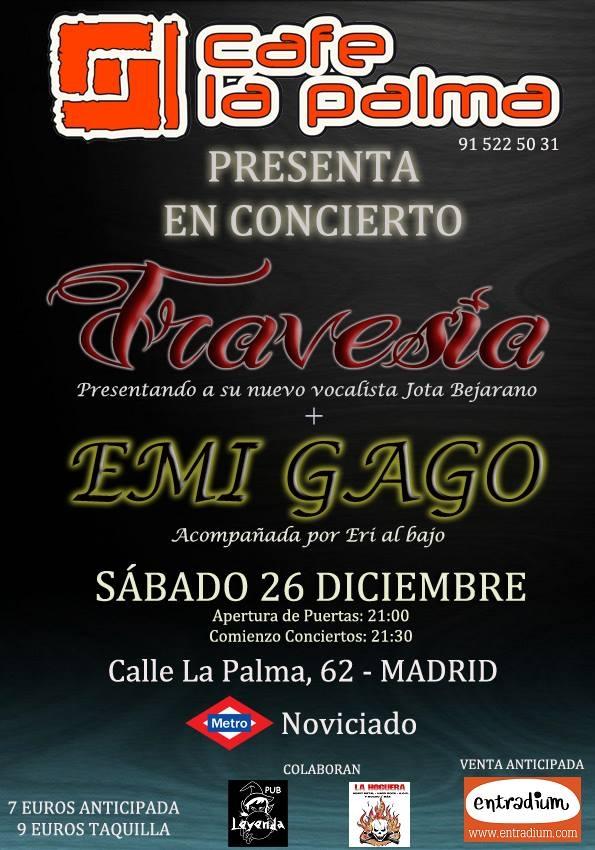 Ir al evento: Emi Gago y Travesía en el Café La Palma