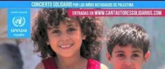 Go to event: CANTAUTORES POR LOS NIÑOS REFUGIADOS DE PALESTINA