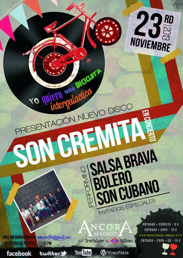 Ir al evento: Lanzamiento del Disco de Son Cremita