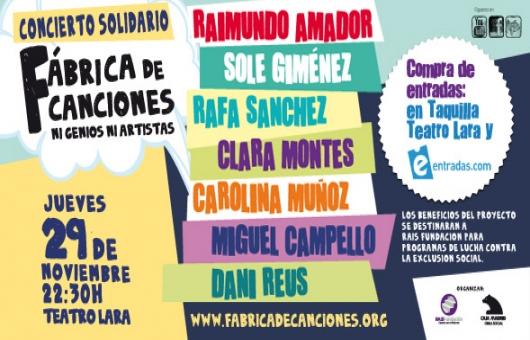 Ir al evento: Concierto solidario con Raimundo Amador y Sole Giménez